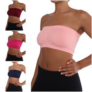 4 Colorful Padded Bandeau Tops Blue, Pink, Hot Pink. Burgundy for Sale in Riverside, CA