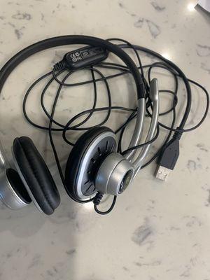Logitech USB Headset Model A-0356A SILVER/BLACK for Sale in Lakewood, CA