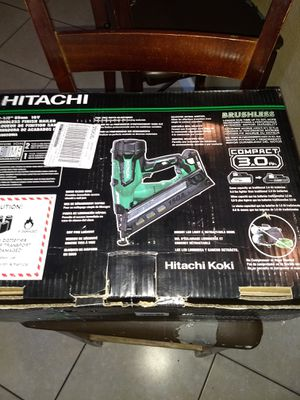 Hitachi cordless nailgun battery /charger included for Sale in Hialeah, FL