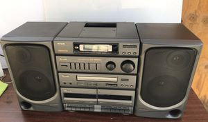 Aiwa CA-DW550 AM FM Stereo Dual Cassette CD Portable Component System ALL WORKS for Sale in Pittsburg, CA