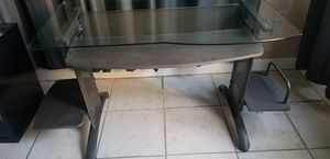 Metal and glass desk for Sale in Miramar, FL