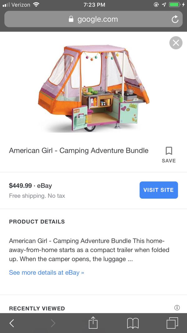 American girl doll 18in 2 Truly Me and Camper Pop Up Brand New $300.. FIRM