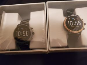 Two fossil smartwatch 5 generation for Sale in Purcellville, VA