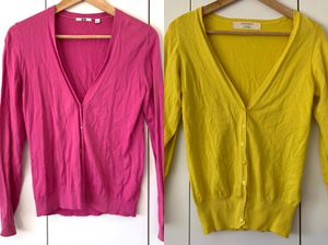 2 cardigans from Zara uniqlo size S for Sale in Fairfax, VA