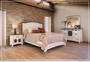 Queen Bedroom Set. Rustic look for Sale in Glendale, AZ