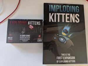 Exploding kittens game with 1st expansion pack for Sale in Benton City, WA
