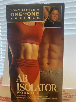 Tony Littles Ab Isloator Workout 🏋️♂️ VHS 📼 Vintage for Sale in Albuquerque, NM