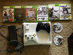 XBOX 360 + Games + 2 Controllers for Sale in St. Louis, MO