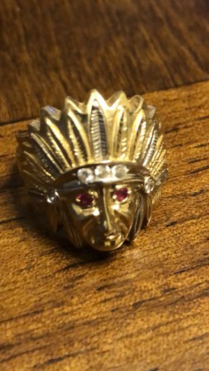 14k Indian head ring size 8.5 -6.8g of gold for Sale in Everett, MA