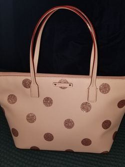 Kate Spade Glitter Polka Dots Pink Tote for Sale in Mission,  TX