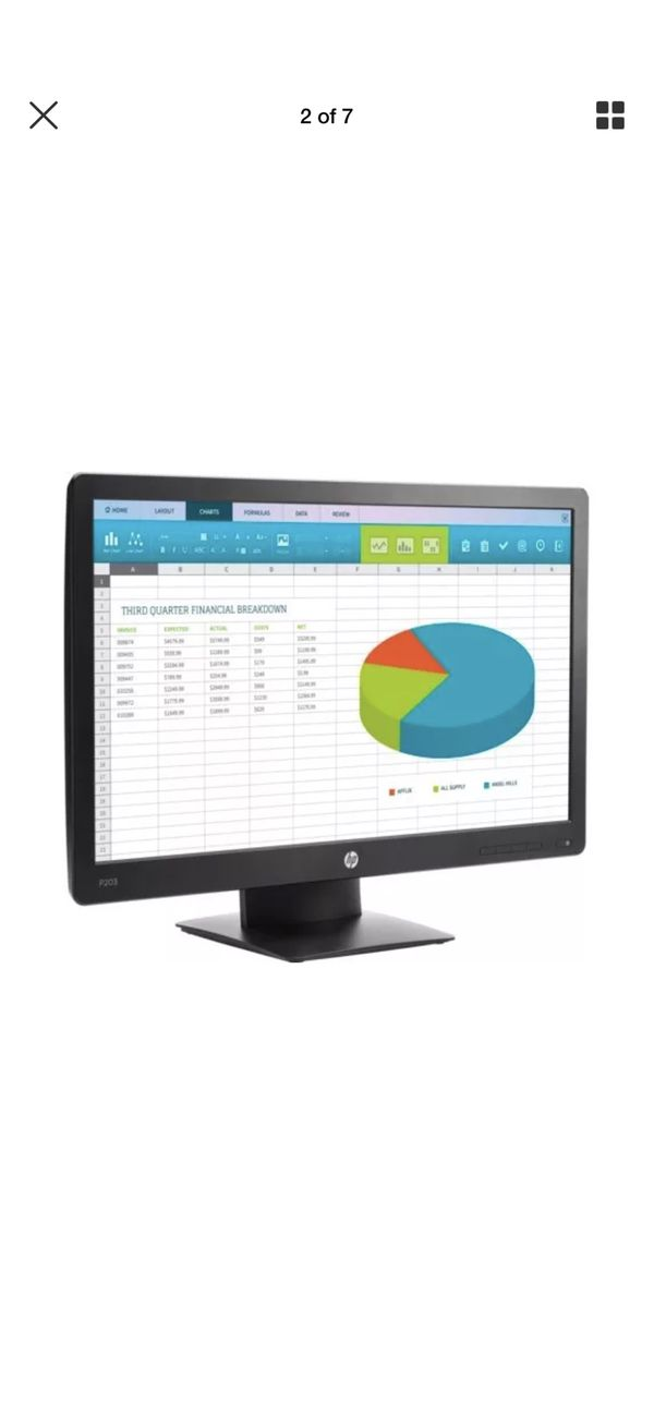 HP Pro Display P203 20-inch HD+ LED-Backlit Monitor (X7R53A8#ABA)