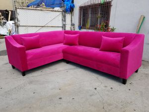 NEW 7X9FT PINK FABRIC SECTIONAL COUCHES for Sale in Las Vegas, NV