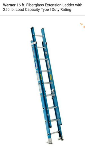 16ft Fiber Glass Almost New Ladder - Must Sell for Sale in Detroit, MI