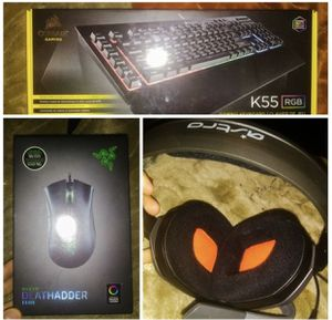 Computer Gaming Keyboard Headphones Microphone and Mouse for Sale in Las Vegas, NV