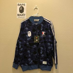 Bape champion jacket camo blue (fits like medium/large) for Sale in Los Angeles, CA