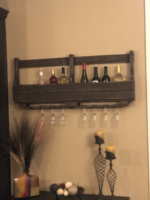 Wine rack and glass holder for Sale in Lafayette, IN