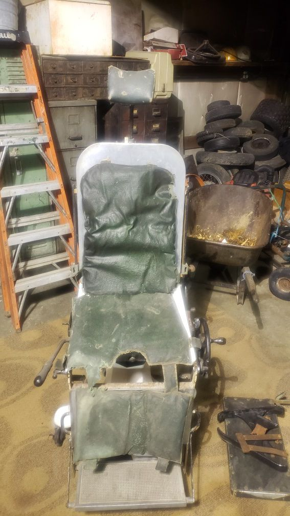 Vintage Psychiatric Medical Chair with Child Booster Seat