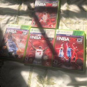 NBA 2k 13-16 Xbox 360 for Sale in Lantana, FL