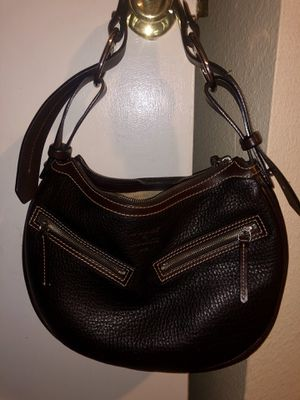 Dooney & Bourke 1975 dark brown leather hobo bag tote for Sale in Westminster, CO