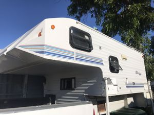 Slide in camper 9.5 ft stove bathroom shower good condition for Sale in El Cajon, CA