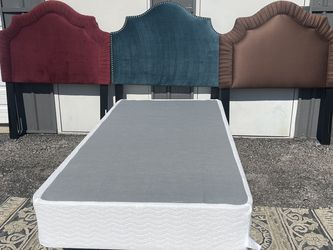 New Twin Size Box Spring And Metal Bed Frame $70 And Choose Headboard For Additional $60 for Sale in Columbus,  OH
