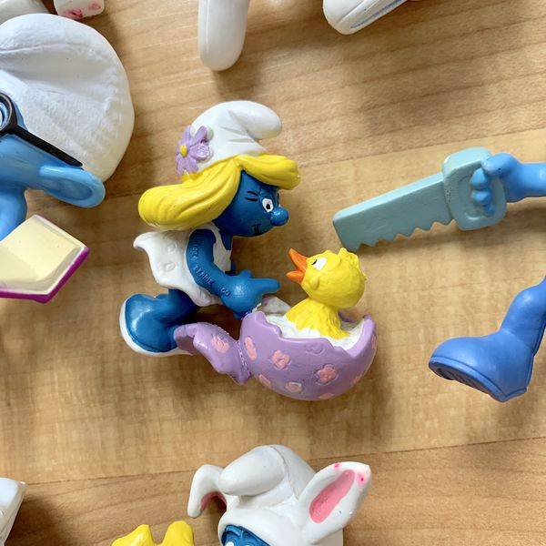 Collectable Smurfs Figurine Toy Lot of 9