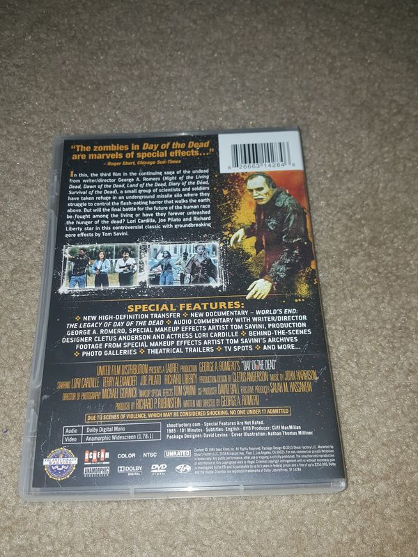Day of the Dead (DVD Scream Factory)