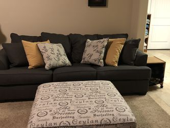 Dark Grey Sofa And Ottoman (willing To Sell Separate) for Sale in Provo,  UT