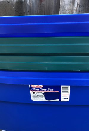 Sterility ultra tote box 30 gallon storage bin for Sale in Santa Clara, CA