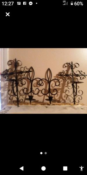 Cast iron candle holders an wall decoration for Sale in Dracut, MA