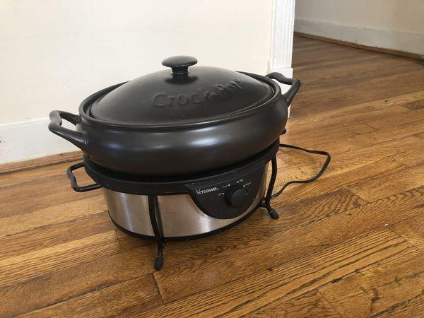 Vintage Crock Pot Slow Cooker - 5 Quart