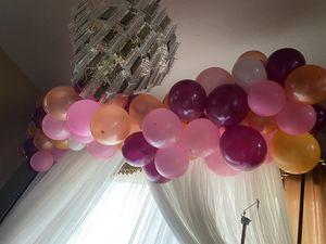 Balloon garland it's pink dark pink gold for Sale in Orlando, FL