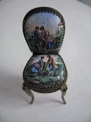 Vintage Doll House Enamel Miniature Chair for Sale in Los Angeles, CA