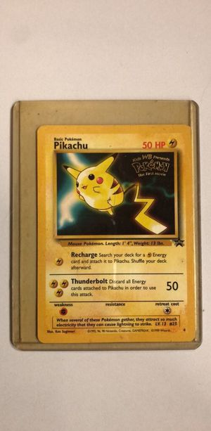 Rare Pokemon pikachu first movie promo card for Sale in Springfield, VA