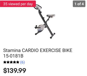 Cardio exercise bike (folding) for Sale in St. Petersburg, FL