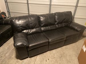 Leather couch and loveseat for Sale in Temecula, CA