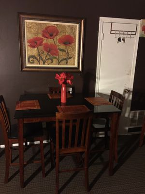 High table w/4 chairs for Sale in Raleigh, NC