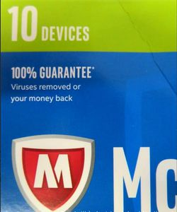 McAfee 2017 Antivirus Plus - 10 Devices, Key Code Retail Box - Sealed Box for Sale in Orlando,  FL