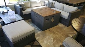 Brand New PATIO Furniture with Sectional and Ottoman and Firepit for Sale in San Lorenzo, CA