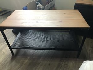 Wood and black steel coffee table for Sale in Washington, DC