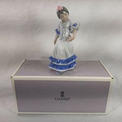 Lladro Juanita Flamenco Dancer Girl Blue 05193 Cute Flower Spain New Old Stock for Sale in Chambersburg,  PA