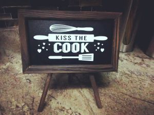 Kitchen Pinewood Easel Chalkboard for Sale in Spring Hill, FL