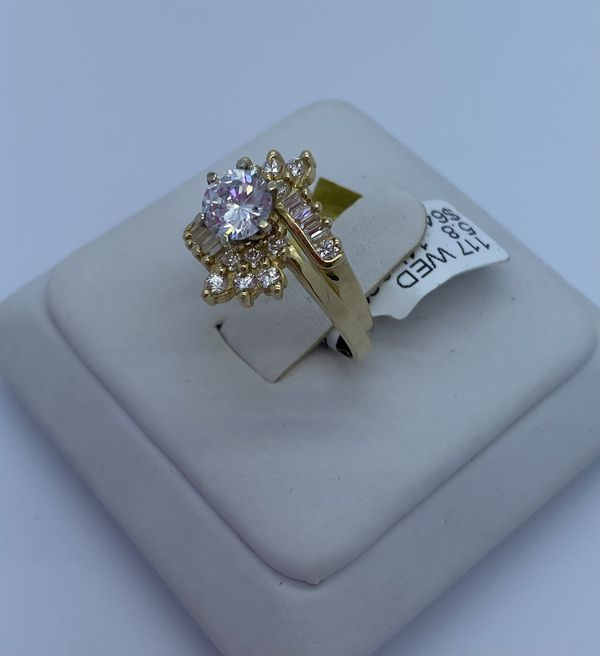 Wedding ring cz 14k