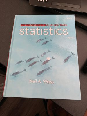 Elementary Statistics (Neil A. Weiss) for Sale in Lubbock, TX