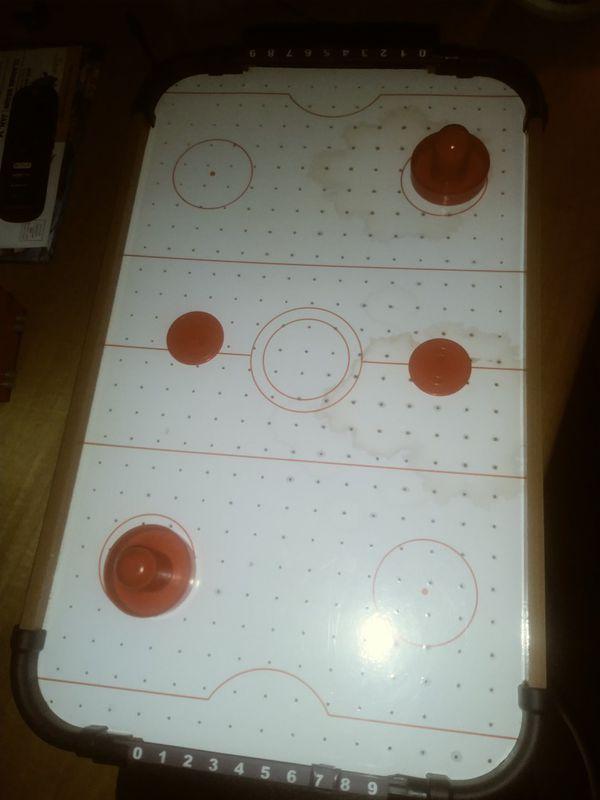Kids portable air hockey table