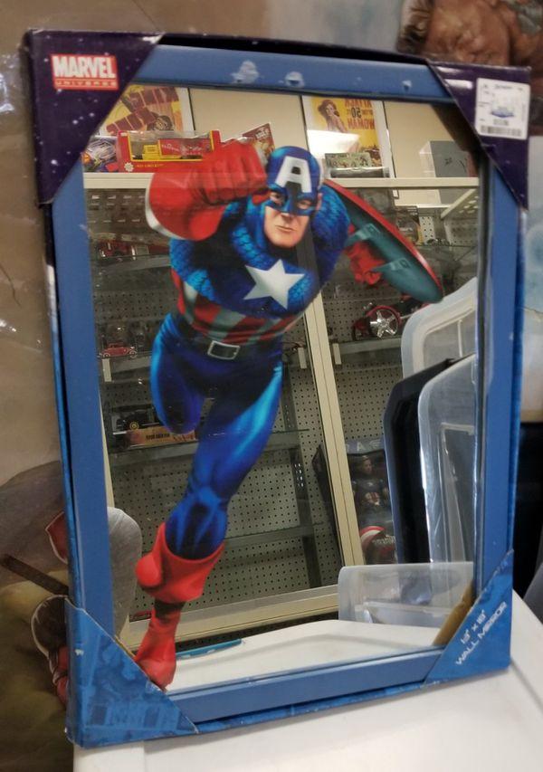Captain America Wall Mirror Unopened Box