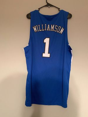 ZION WILLIAMSON DUKE BLUE DEVILS NIKE JERSEY BRAND NEW WITH TAGS SIZE LARGE for Sale in Durham, NC