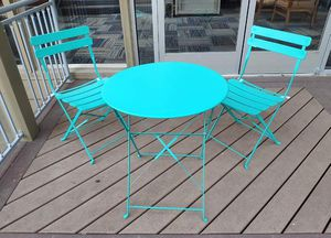 Teal / turquoise patio bistro set for Sale in Orange, CA
