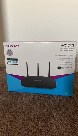 NETGEAR Router NEW great speeds WiFi speeds up to 1750 MBPS for Sale in Norco, CA