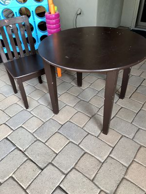 Kids wooden table and chair for Sale in Litchfield Park, AZ